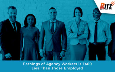 Earnings of Agency Workers is £400 Less Than Those Employed
