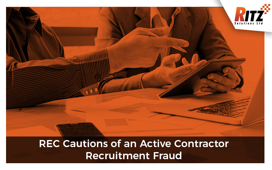 REC Cautions of an Active Contractor Recruitment Fraud